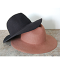 WOOL FELT LONG BRIM HAT