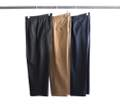 T/R TWILLSTRETCH 1TUCK WIDE CROPPED PANTS