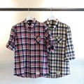 MADORAS CHK 3/4 ROLL UP SHIRTS
